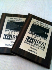 2013 IDPA Puerto Rico Championship Awards to Team ITI