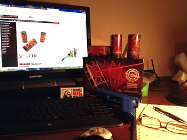plinking cans desk web
