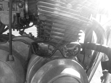 Revision Hellfly Ballistic Sunglasses on Motorcycle