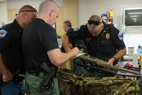 Cobb County Police Department inspecting their new Bergara Rifles
