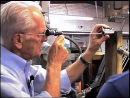 Ed Shilen inspecting a Bergara Barrel.